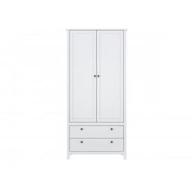 Шкаф 2-х створчатый SZF2D2S/90 Хельга белый