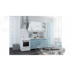 Кухня Бьянка 2.1 голубая