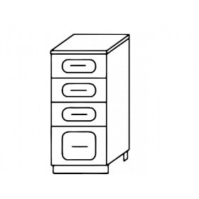 Стол рабочий Н300-4Я кухня Агава