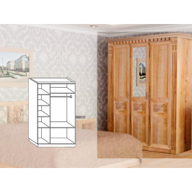 Шкаф 3-х дверный Луиза