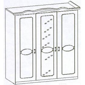 Шкаф 3-х дверный Вега-36