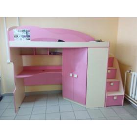 Кровать-чердак+шкаф