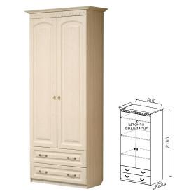 Шкаф 2-х дверный с ящиками прихожая Визит-15