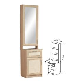 Шкаф комбинированный с зеркалом прихожая Визит-16