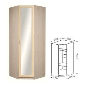 Шкаф угловой с зеркалом прихожая Визит-16