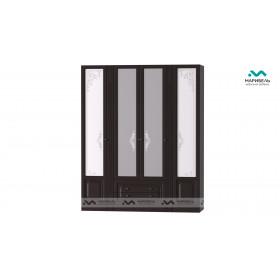 Шкаф 4-х дверный Ева-11