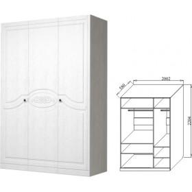 Шкаф 3-х дверный Ева-9