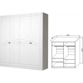 Шкаф 4-х дверный Ева-9