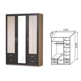 Шкаф 3-х дверный Ивушка-4