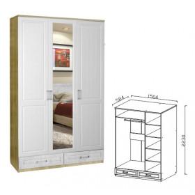 Шкаф 3-х дверный Ивушка-10