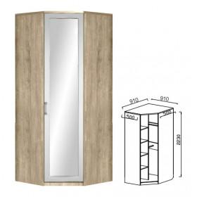 Шкаф угловой с зеркалом Ивушка-10