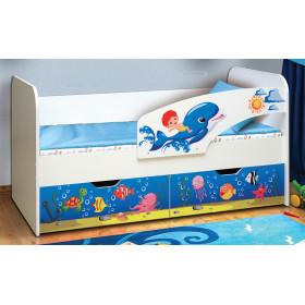 Детская кровать Дельфин с фотопечатью (Матрица)