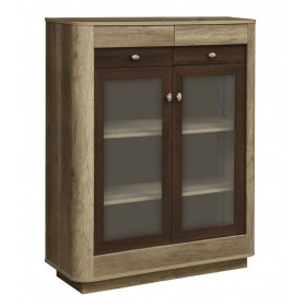 Шкаф-витрина комбинированный низкий Фантазия
