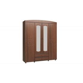 Шкаф 4-х дверный с зеркалом Каролина