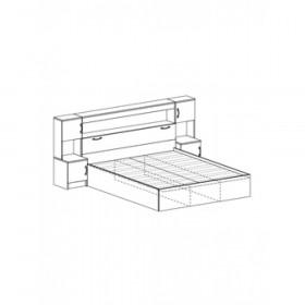 Кровать КР 552 Бася (Рикко) с прикроватным блоком