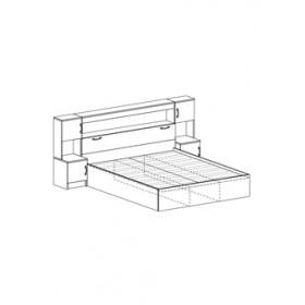 Кровать КР 552 Бася с закроватным модулем
